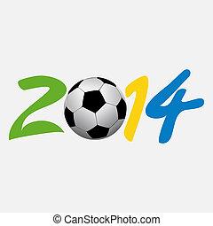 vector illustration football 2014