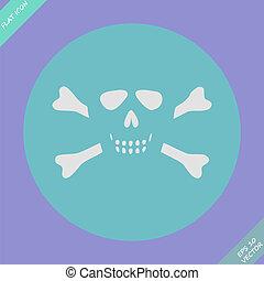 Skull and bones - a mark of the danger  warning