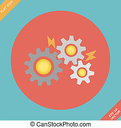 Gears - vector illustration.