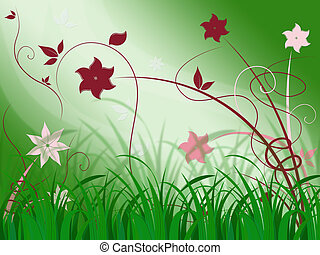Elegant Floral Background Means Elegant Natural Beauty -...