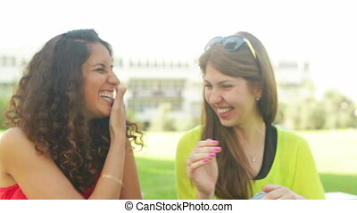 Freaking Out - Two best friends enjoying themselves laughing...