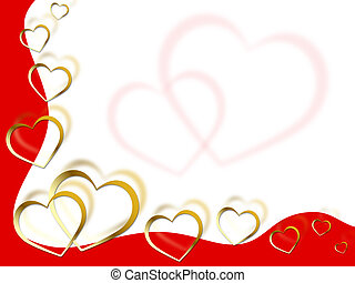 Hearts Background Means Shows Partner Romance And Red
