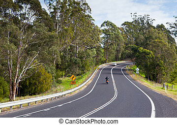 Winding Australian Road - The Princes Highway winds around...