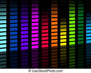 Colorful Soundwaves Background Means Frequencies Music And...