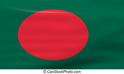 Waving Bangladesh Flag, ready for seamless loop
