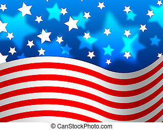 Amercian Flag Background Means Stripes And Stars - Amercian...