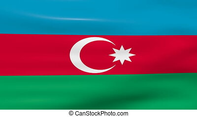 Waving Azerbaijan Flag, ready for seamless loop.