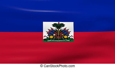 Waving Haiti Flag, ready for seamless loop.