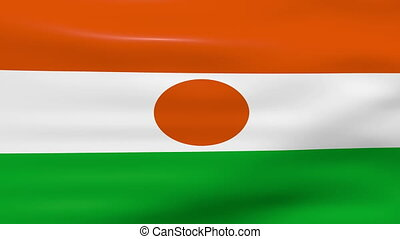 Waving Niger Flag, ready for seamless loop.