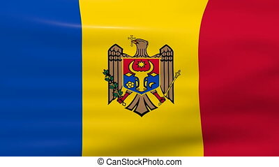 Waving Moldova Flag, ready for seamless loop.