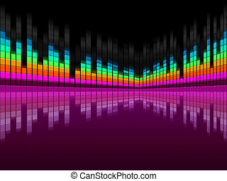 Purple Soundwaves Background Shows DJ Music And Songs -...