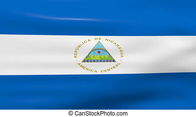 Waving Nicaragua Flag, ready for seamless loop