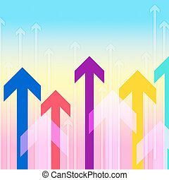 Arrows Background Means Upwards Direction Or Increase -...