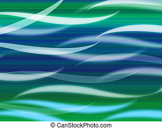 Sea Waves Background Means Curvy Light Ripples - Sea Waves...