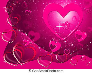 Hearts Background Shows Loving Affection And Romance