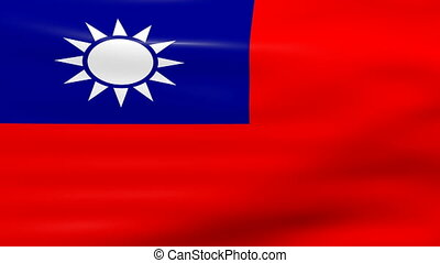 Waving Taiwan Flag, ready for seamless loop