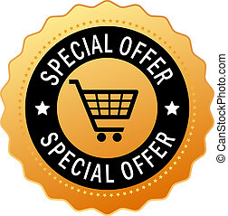 Special offer icon isolated on white