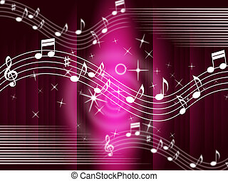 Purple Music Background Means Melody And Tune - Purple Music...