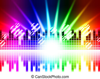 Bright Colors Background Means Rays Frequencies And Balls -...