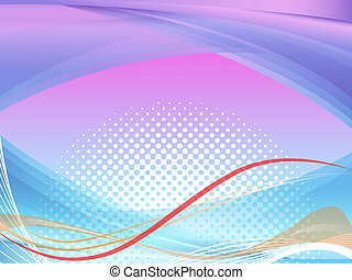Wavy Background Shows Squiggles And Curves Pattern - Wavy...
