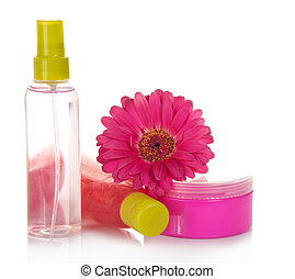 Means for peeling, lotion, face cream and flower