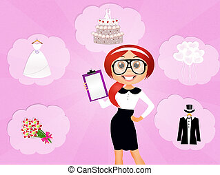 Wedding planner - illustration of Wedding planner