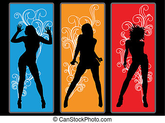 Dancing Queens - Dancing girls in retro look