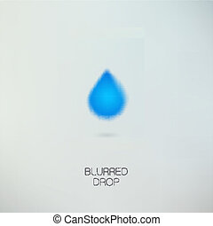 Clean pure water drop - Icon isolated on gray background Eps...