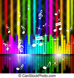 Music Background Means Playing Songs And Sounds - Music...