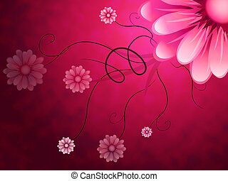 Flowers Background Shows Garden Growing And Nature - Flowers...