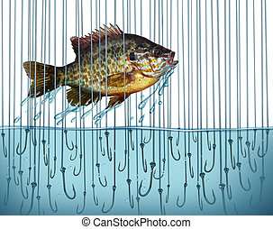 Avoid Risk - Avoid risk escape danger as a business metaphor...