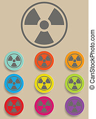 Radiation sign - Illustration Vector