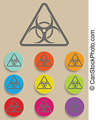 Warning symbol biohazard vector
