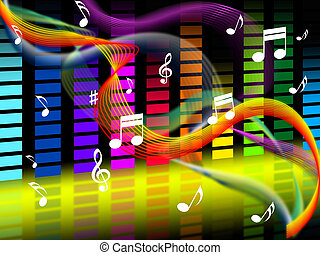 Music Background Shows Tune Jazz Or Classical - Music...