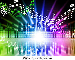 Music Colors Background Means Songs Singing And Musical -...