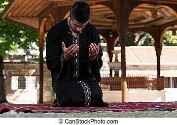 prière, à, mosquée