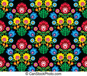 Seamless Polish folk art pattern - Repetitive pattern -...
