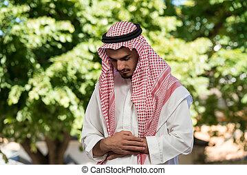musulman, homme, est, prier, dans, les, mosquée
