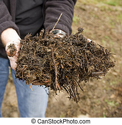 Agriculural compost - Compost made on a farm by using...