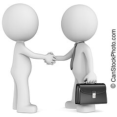 Business deal. - The Dude shaking hand with character...