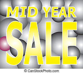 Mid Year Sale on Light Two Tone Bal - Vector of Sale on...