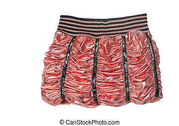 mini skirt - red mini skirt isolated on white background
