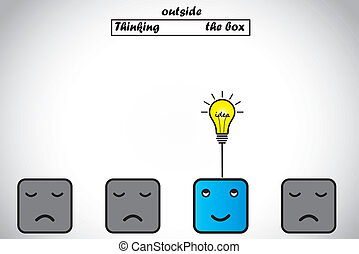 professional thinking outside box - happy professional...
