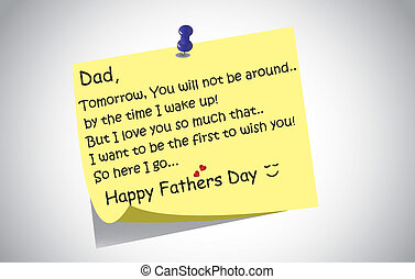 happy fathers day post it note