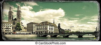 Vintage photo of Zurich