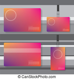 Id card abstract illustration
