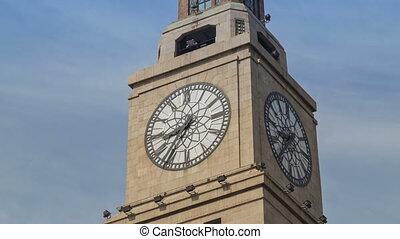 Shanghai Customs House watch timelapse - The Customs House...