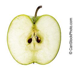 green apple fruit slice
