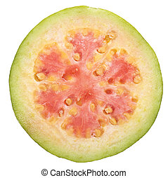 goiaba, fruta, fatia