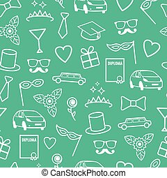 Prom Seamless Pattern